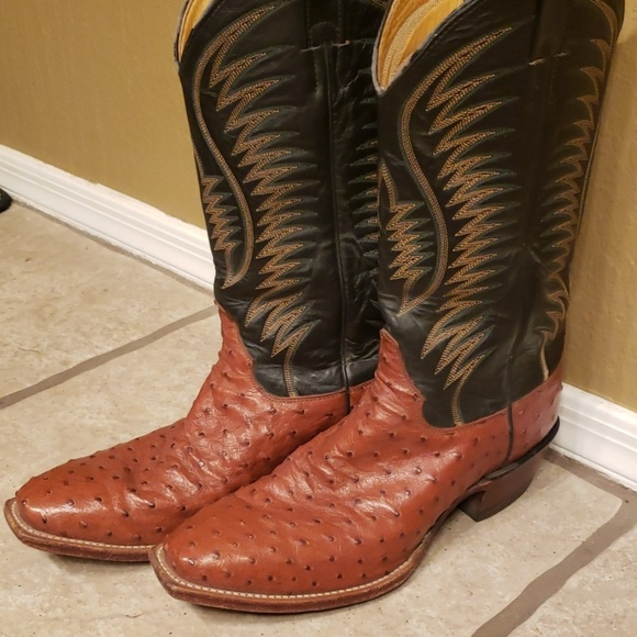 c9da900291a Justin Full Quill Ostrich Western boots 7.5 EE